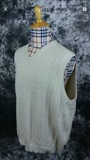 Mens XL Trump Golf cable knit sweater vest