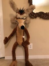 "Vintage Wile E Coyote 1971 Large Stuffed Animal 51"" Tall Looney Tunes"