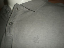 NWT CALVIN KLEIN GREY FADED WASHED LOOK POLO SHIRT SZ:2XL 2X XXL