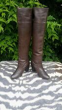Vintage Miss Selfridge Brown Over The Knee Boots UK 6, EU 39