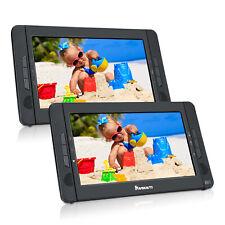 "NAVISKAUTO 10.1"" Dual Screen Portable DVD Player Car Headrest Video Player USB"