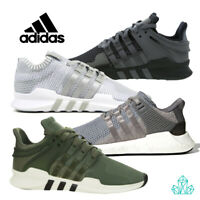 New Junior Youth ADIDAS Trainers EQT Support ADV Sport Shoes Olive Green