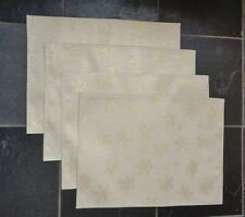 New listing Metallic Gold Snowflake Placemats ~ Set of 4