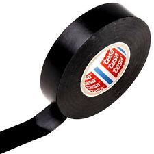 Tesa cinta aislante de PVC de 10m x 15mm Cinta adhesiva Cinta negra para coche tubería de cable