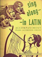 SING ALONG IN LATIN / Favotites in Roman Latin - 1963, Gregorian Inst of America