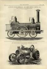 1887 a explosé PLOUGHING ENGINE Birmingham Derby Junction Railway 1838