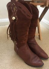Vintage Brown Russell And Bromley With Side Detail Boots Size 4.5