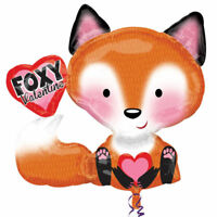Foxy Bear Valentines Love Helium FOX shape Foil Balloon Party Decoration