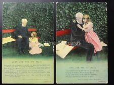 WW1 JUST LIKE THE IVY Bamforth Song Cards set of 2 No 4057/1/2