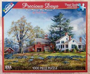 White Mountain PRECIOUS DAYS #1176 Jigsaw Puzzle 1000p 24x30 2015 Fred Swan