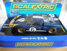 Slot Car Scalextric Ford GT 40 #6 in Dark Blue on 1:32 in Box