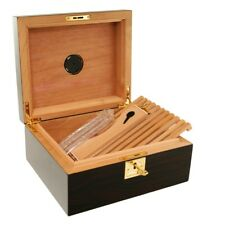 CIGAR HUMIDOR Ashford Jr. Cigar Star Made From Ebony Wood!