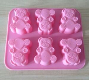 Soap Mold 3D Bear Flexible Silicone Mould For Handmade Soap Candle Candy Cake Fimo Resin Crafts R0466