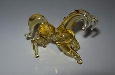 Vintage USSR 1980s Glass figurine Handmade HORSE Original
