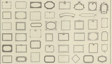 French General Souvenir Quilt label panel Natural Cotton print fabric
