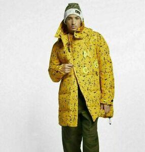 Nike Lab ACG Down Fill Parka AQ3517 752 Men's Large Yellow Ochre/ Black Dots