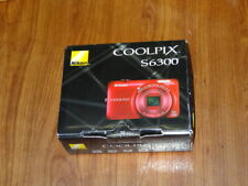 NEW in Box - Nikon COOLPIX S6300 Camera 16.0 MP Camera - RED - 018208263356