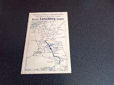 Horaire des. trains internationaux Berne Loetschberg 1913 1914