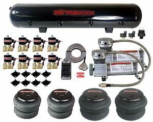 """Air Compressors 400 Pewter 1/2""""npt Valves 2500 & 2600 Air Bags Clear 7 Switch"""