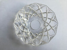 120MM*30MM Clear Crystal Glass Bobeches Chandelier Lamp Part Repair Bowl Replace