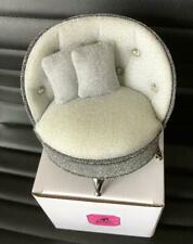 2019 Barbie Convention Silver Doll Chair with Tiara Ring in Box Diamond Jubilee