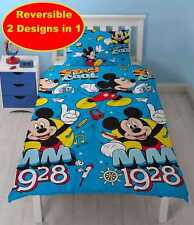 Disney Mickey Mouse Kids Childrens Bedding Duvet Cover Pillowcase Set Single Bed