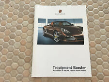 PORSCHE OFFICIAL BOXSTER & BOXSTER S TEQUIPMENT BROCHURE 2009 USA EDITION