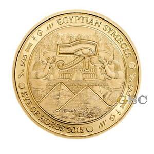 Palau 2015 $1 Eye of Horus - Egyptian Symbols series .999 fine gold coin