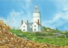 St Agnes Lighthouse Isles of Scilly by P Chesterton Modern Postcard 340a ^