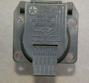 1998-2010 Ram Durango Grand Cherokee Trailer Wiring 7 Way Pin Connector MOPAR OE