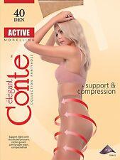 """4-er Pack Stützstrumpfhosen mit Kompression Massage Effekt """"Active 40Den"""" Conte"""