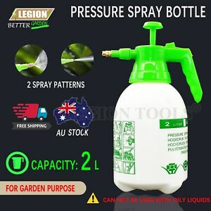 Pressure Pump Spray Bottle 2L Easy Pump Adjustable Nozzle Garden Chemical Use
