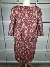Vestido de encaje Gok para tu Talla 20 ocasión peplum ajustado Borgoña Rojo Boda Fiesta