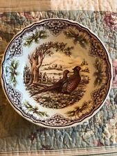 Victorian English Pottery Company Turkey Thanksgiving Pheasant Serving Bowl New!
