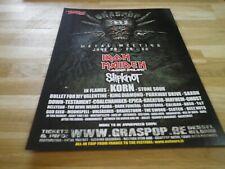 IRON MAIDEN - Publicité de magazine / Advert !!! GRASPOP 1 !!!
