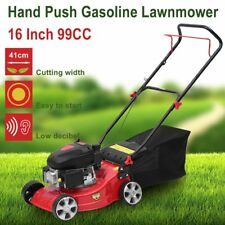 Petrol Lawn Mower 99cc Push Lawnmower 5HP 4 Stroke Engine 4 Wheels Lawn Machine