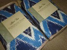 ROSE TREE NEW HAVEN BLUE CHEVRON STRIPE (PAIR) EURO PILLOW SHAMS 26 X 26 NAVY