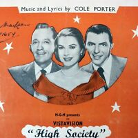 TRUE LOVE Bing Crosby Frank Sinatra Grace Kelly High Society 1955 Music Sheet