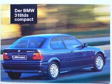 Prospekt BMW 3er E 36 318 tds compact, 1.1995, 6 Seiten, folder