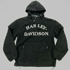 Harley Davidson Men's Full Zip Windproof Hoodie Sweatshirt Reflective • SMALL