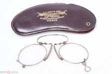 ✅ ANTIQUE PINCH, PINCE NEZ GLASSES SPECTACLES APP. +3 DIOPTER READING