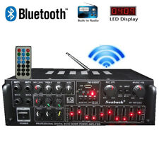 2000W Stereo Amplifier Bluetooth Tuner Remote Control USB SD Aux IN Mic Input