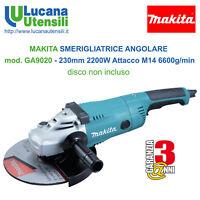 MAKITA SMERIGLIATRICE ANGOLARE mod. GA9020 230mm 2200W 6600g Flex Frullino Disco