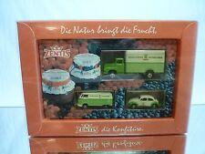 BREKINA VW BEETLE + VOLKSWAGEN BUS T1 + TRUCK MAN - ZENTIS MARMELADE - H0 1:87