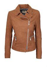 Bogner Jeans Women's Leather Jacket/Biker Jacket SIZE S Suede