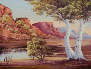 HENK GUTH ~ APPEALING ORIGINAL OIL PAINTING ~ McDONNELL RANGES,CENTRAL AUSTRALIA