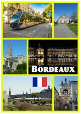 BORDEAUX, FRANCE - SOUVENIR NOVELTY FRIDGE MAGNET - BRAND NEW - SIGHTS / GIFTS