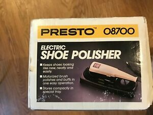 Vintage ~ PRESTO Electric Corded Shoe Polisher Kit ~ Model 08700 in original box