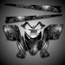 Polaris IQ RMK Shift Dragon Graphics Decal Wrap 05-12 with Tunnel Skulls Black