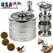 4 Piece Tobacco Herb Grinder Spice Herbal Metal Smoke Crusher Handle Hand Muller